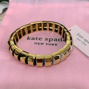 Kate Spade Gold Sliced Scallop Stretch Bracelet
